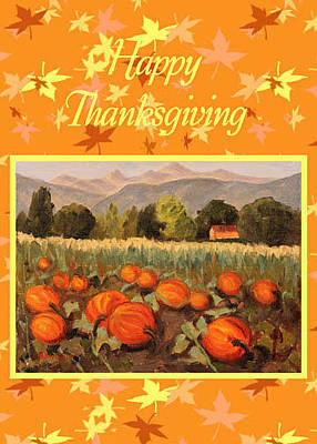 Painting - Thanksgiving Card by Ruth Soller