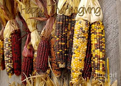 Digital Art - Thanksgiving Corn by JH Designs