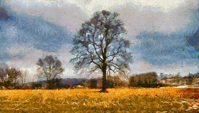 Farm Scene Mixed Media - Thanksgiving Day In Ohio by Dan Sproul