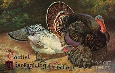 Painting - Thanksgiving Greetings by American School