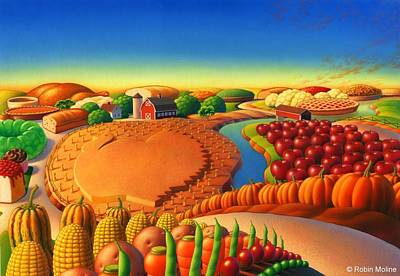 Painting - Thanksgiving Land by Robin Moline