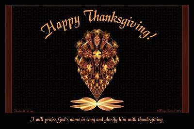 Digital Art - Thanksgiving by Missy Gainer
