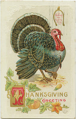 Thanksgiving Wall Art - Painting - Thanksgiving Postcards Iv by Wild Apple Portfolio