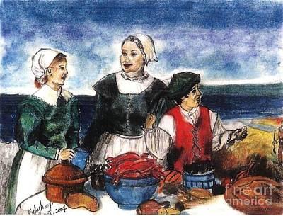 Pastel - Thanksgiving Supper by Francine Heykoop