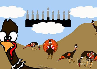 Thanksgivukkah Scene Art Print