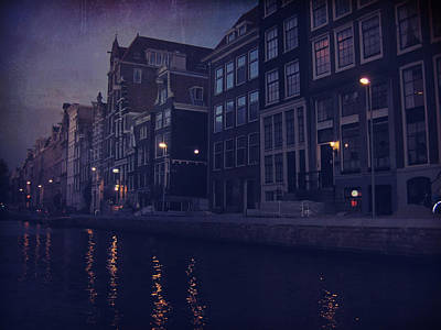 That Evening In Amsterdam Art Print by Laurie Search