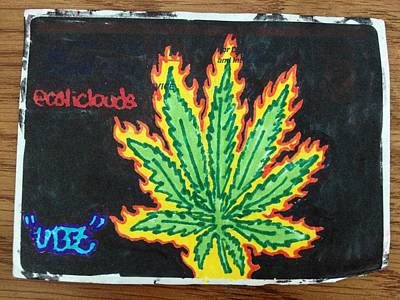 Kush Drawing - That Fire by Waves UBZ