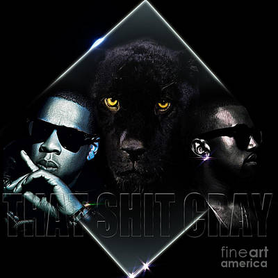 Jay Z Digital Art - That Ish Cray by The DigArtisT