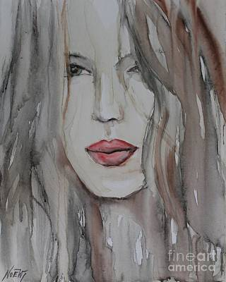That Lips Art Print by Jindra Noewi