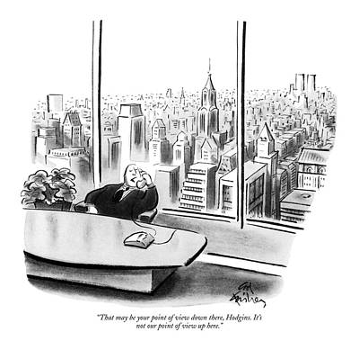 Cities Drawing - That May Be Your Point Of View by Ed Fisher