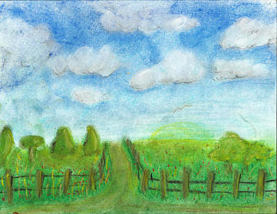 Simplicity Drawing - That Old Dirt Road by Melissa Osborne