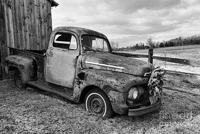 Country Scene Photograph - That Old Truck by Paul Ward