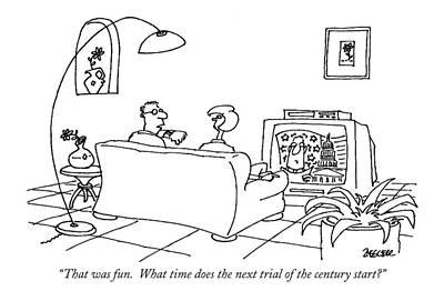 Senate Drawing - That Was Fun.  What Time Does The Next Trial by Jack Ziegler