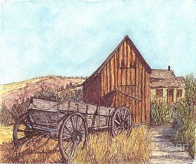 Old Cabins Drawing - That Which Once Was by Carol Wisniewski