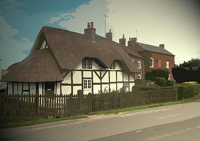 Thatch Cottage,  Coton In The Clay, Perfectly Presented Art Print by Litz Collection