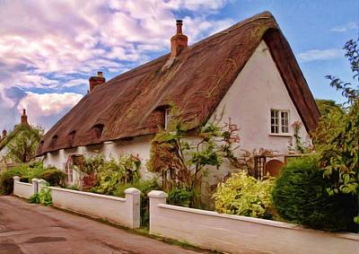 Photograph - Thatched Cottage Avebury -03 by Paul Gulliver