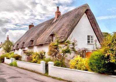 Digital Art - Thatched Cottage Avebury by Paul Gulliver