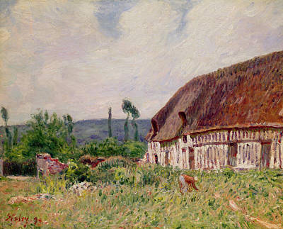 Thatched Cottage In Normandy, 1894 Art Print