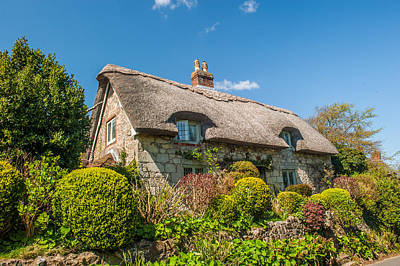 Thatched Cottage Niton Isle Of Wight Art Print by David Ross