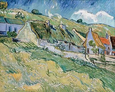 St. Vincent Painting - Thatched Cottages by Vincent van Gogh