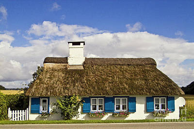 Thatched Country House Art Print by Heiko Koehrer-Wagner