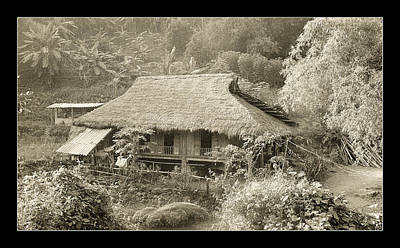 Photograph - Thatched Hut In Vietnam by Weston Westmoreland