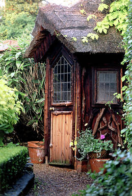 Gazebo Wall Art - Photograph - Thatched Summer House by Steve Taylor/science Photo Library