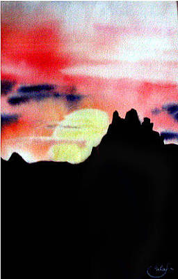 Painting - Thatcher Arizona Sunset by Nila Jane Autry