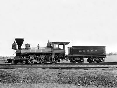 1860s Photograph - Thatcher Perkins Locomotive by Underwood Archives