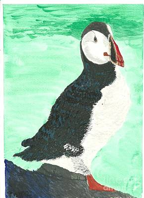 Art Print featuring the painting That's Another Puffin Year Over by Tracey Williams