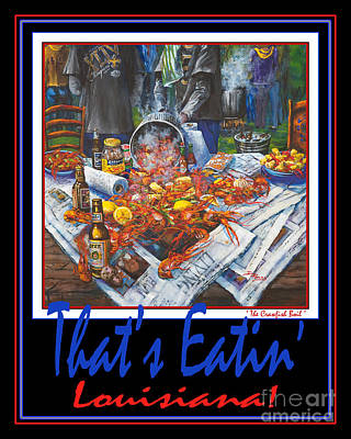 Boiled Crawfish Painting - That's Eatin' Louisiana by Dianne Parks