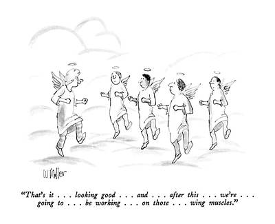 Instructors Drawing - That's It . . . Looking Good . . . And   by Warren Miller