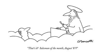 At-st Drawing - That's It?  Salesman Of The Month by Charles Barsotti