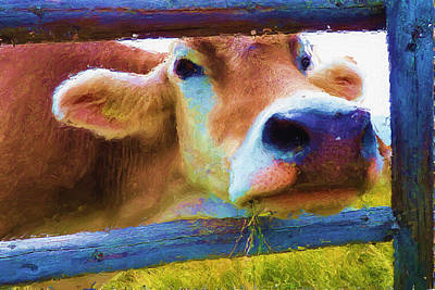 Pasture Digital Art - That's My Lunch by Ayse Deniz