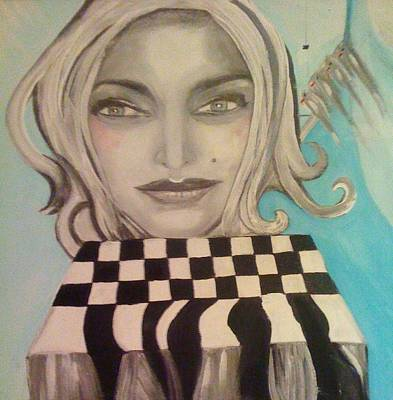 That's Not A Chessboard Art Print by Mlle Marquee