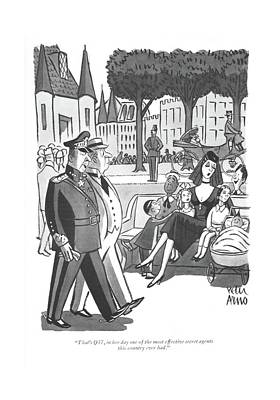 Drawing - That's Q37, In Her Day One Of The Most Effective by Peter Arno