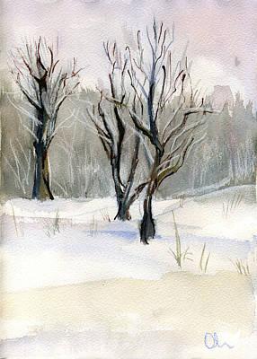 Painting - Thaw by Lelia Sorokina
