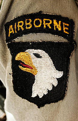 Photograph - The 101st Airborne Division Emblem by Weston Westmoreland