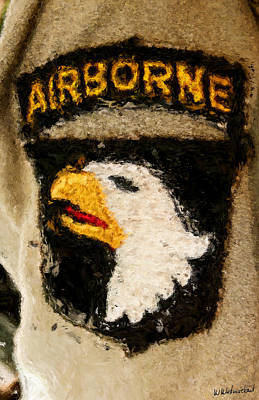 Photograph - The 101st Airborne Emblem Painting by Weston Westmoreland