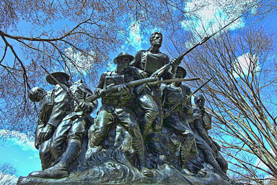 The 107th Infantry Memorial Sculpture Art Print by Allen Beatty