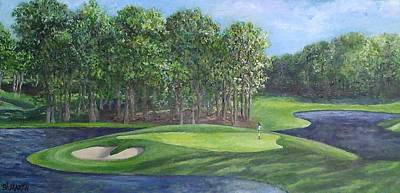 The 10th At Meadow Brook Golf Club Art Print by Annie St Martin
