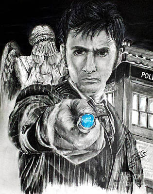 Scifi Drawing - The 10th Doctor by S G Williams