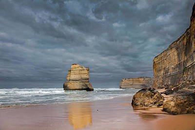 The 12 Apostles, Seen From The Beach Art Print