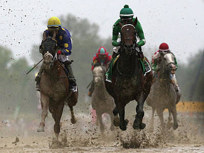 The 141st Running Of The Preakness Art Print by Rob Carr