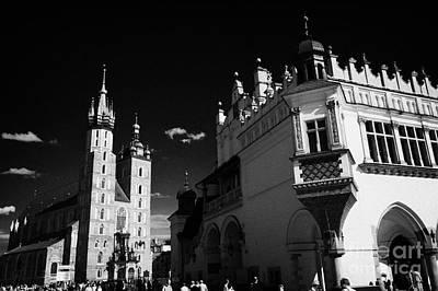 Cracovia Photograph - The 16th Century Cloth Hall Sukiennice Building And 14th Century  Gothic Basilica Of The Virgin Mary by Joe Fox