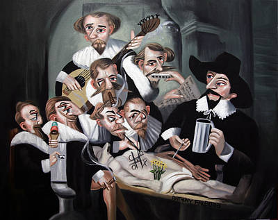 Beer Paintings - The 17th century cadaver conspiracy by Anthony Falbo