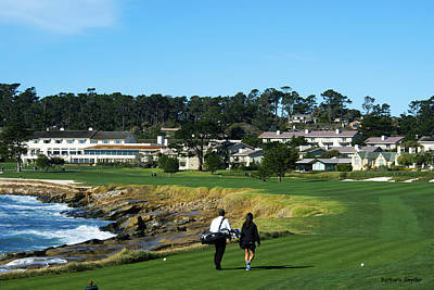 Photograph - Walking Up The 18th At Pebble Beach by Photograph