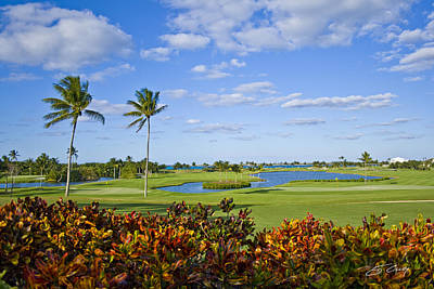 The 18th Green At Ocean Club Golf Course Art Print by Ed Cilley
