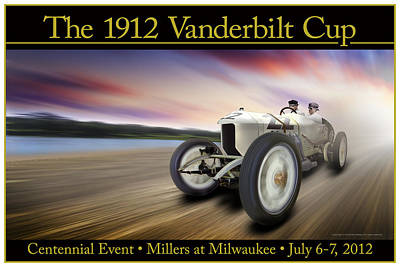 Photograph - The 1912 Vanderbilt Cup by Ed Dooley