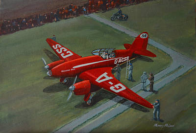 Print featuring the painting The Great Air Race by Murray McLeod